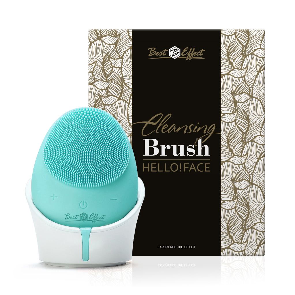 Hello!Face Cleansing Brush - Green