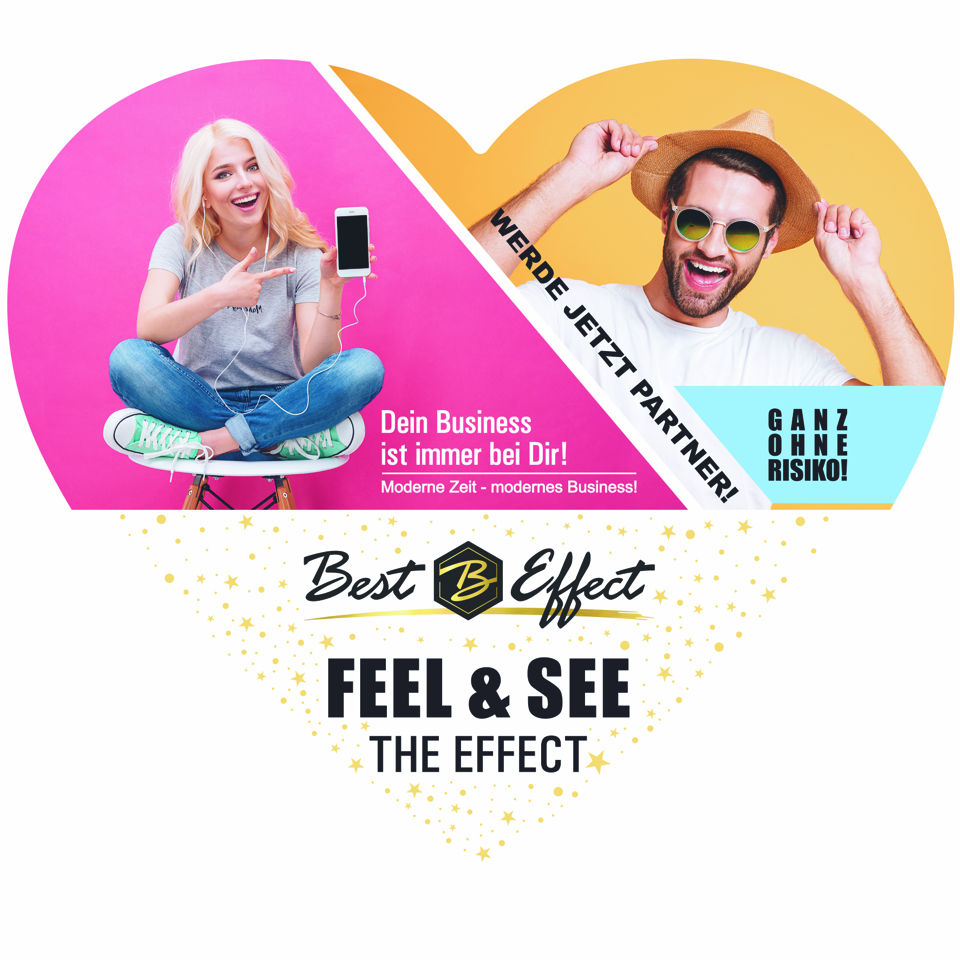"""50-pack """"Feel the Effect"""" hearts flyer with business card"""